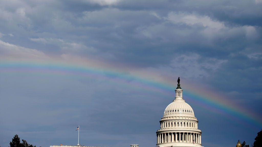 Arcoíris sobre el Capitolio de los Estados Unidos