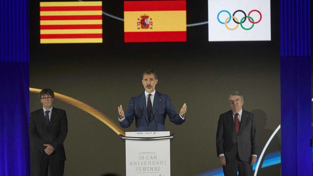 El Rey pone a los JJ.OO. de Barcelona como ejemplo de que los éxitos se consiguen con unidad y trabajando juntos