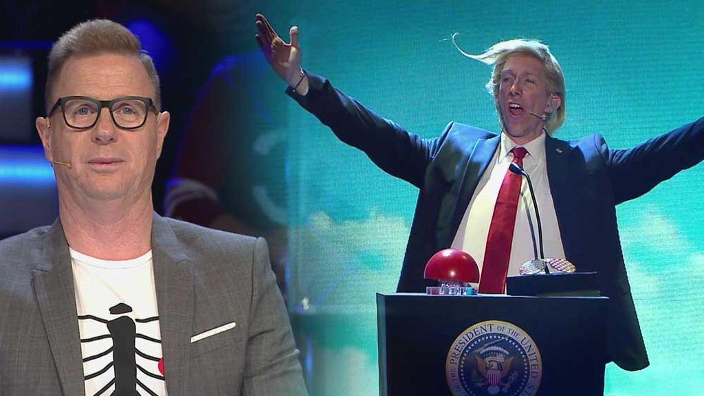 Ken Appledorn con su imitación de Donald Trump consigue ser el antimorbo para su pareja Jorge Cadaval