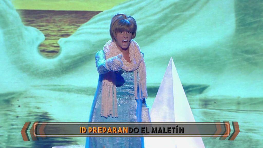 Corina convierte la inocencia que tiene 'Frozen' en puro terror con su interpretación de Angela Merkel