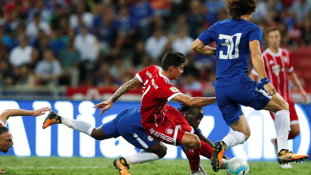 Las tres ocasiones más claras de James para estrenarse con el Bayern de Múnich