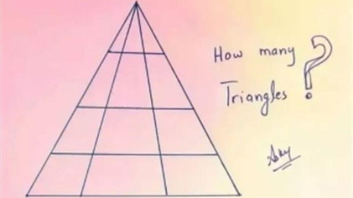 Adivina cuántos triángulos hay en esta imagen: El nuevo ingenioso reto de Internet