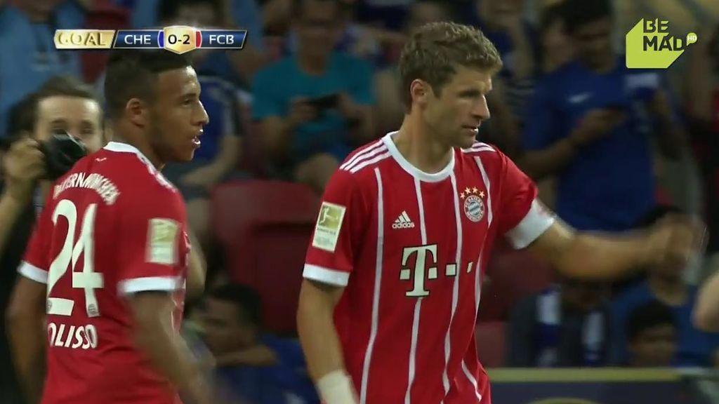 Ribéry deja sentada a la defensa del Chelsea y regala a Müller el segundo del Bayern