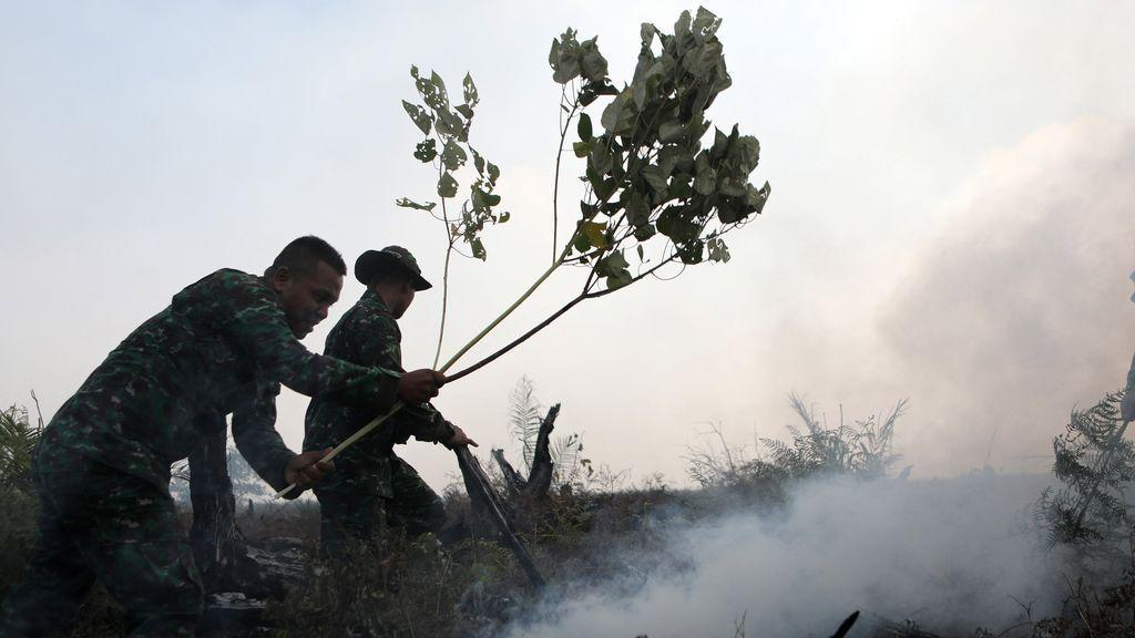 Incendio en el oeste de Aech