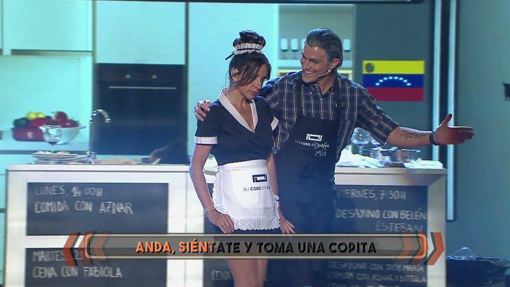 """¿Qué diría la asistenta de Bertín después de cada cena? Carmen Alcayde se lo canta a Hugo Salazar: """"¡Ya no puedo más!"""""""