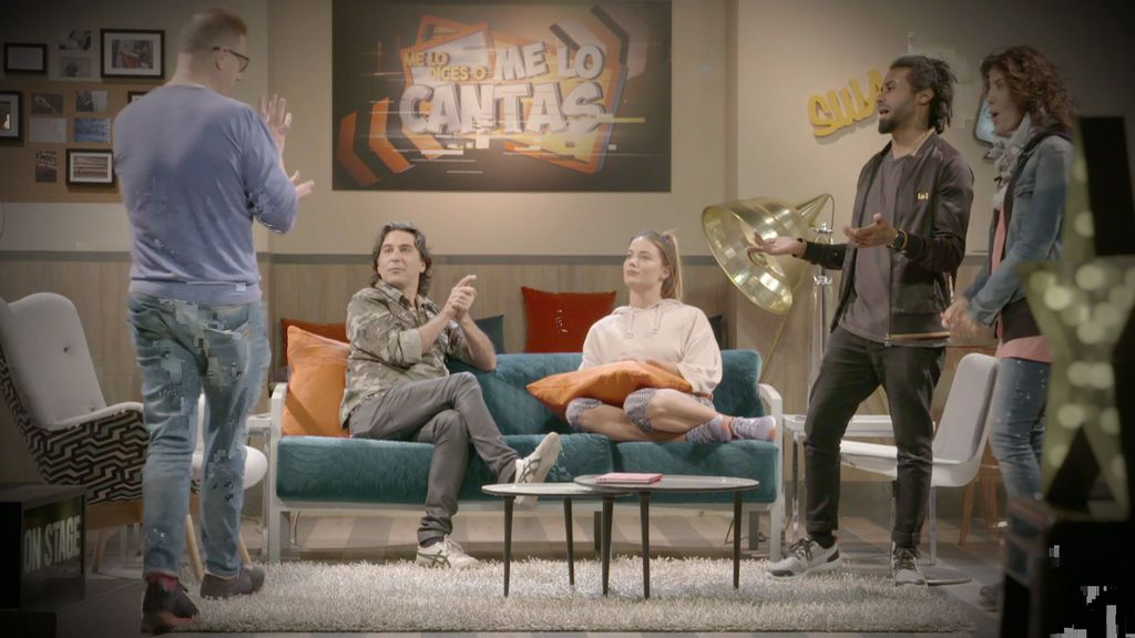 Alyson Eckmann, Sergio Alcover, Vivy Lin y Javi Martín forman el equipo de Jorge Cadaval en 'Me lo dices o me lo cantas'