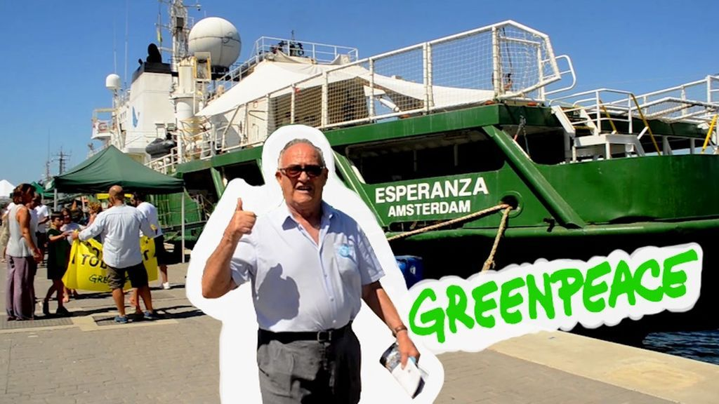 Atrapatuabuelo, capitán del barco 'Greenpeace' por un día