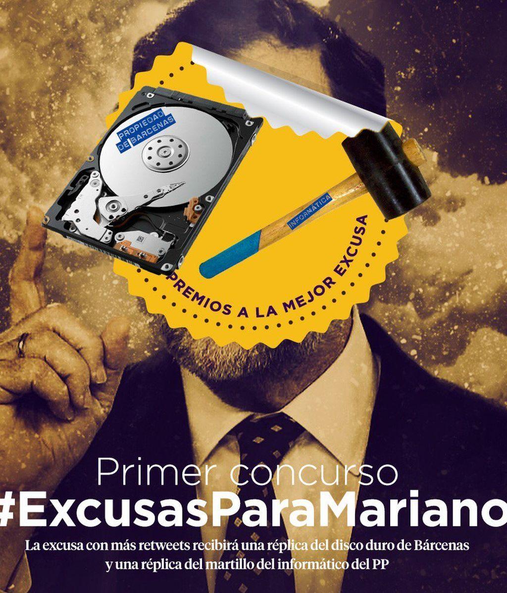 Pablo Iglesias y su equipo se 'mofan' de las excusas de Rajoy en redes sociales
