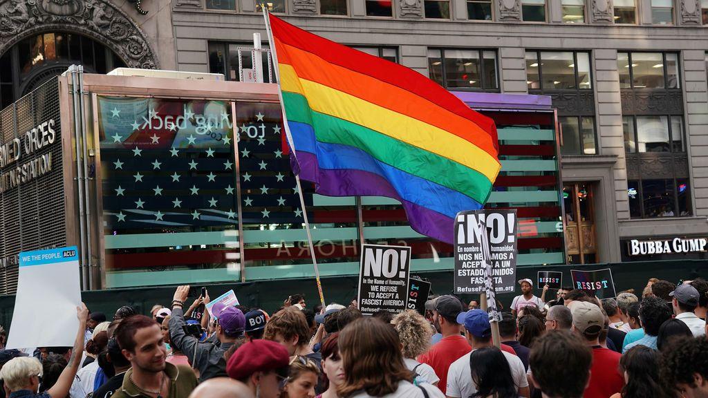 Protesta contra el presidente estadounidense Donald Trump