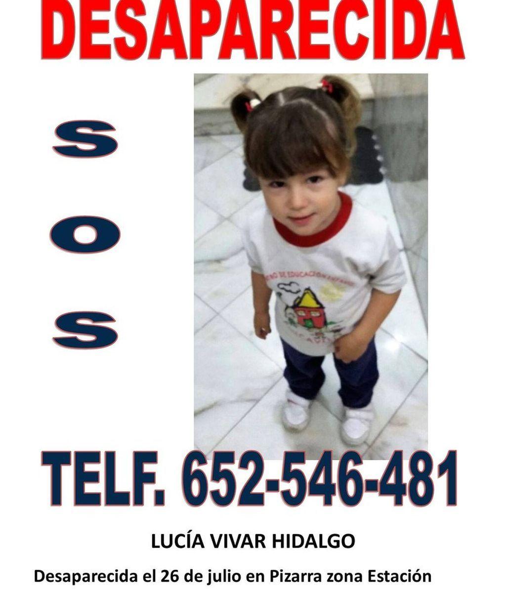 Búsqueda desesperada de Lucía Vivar,  de tres años, desaparecida en el municipio malagueño de Pizarra