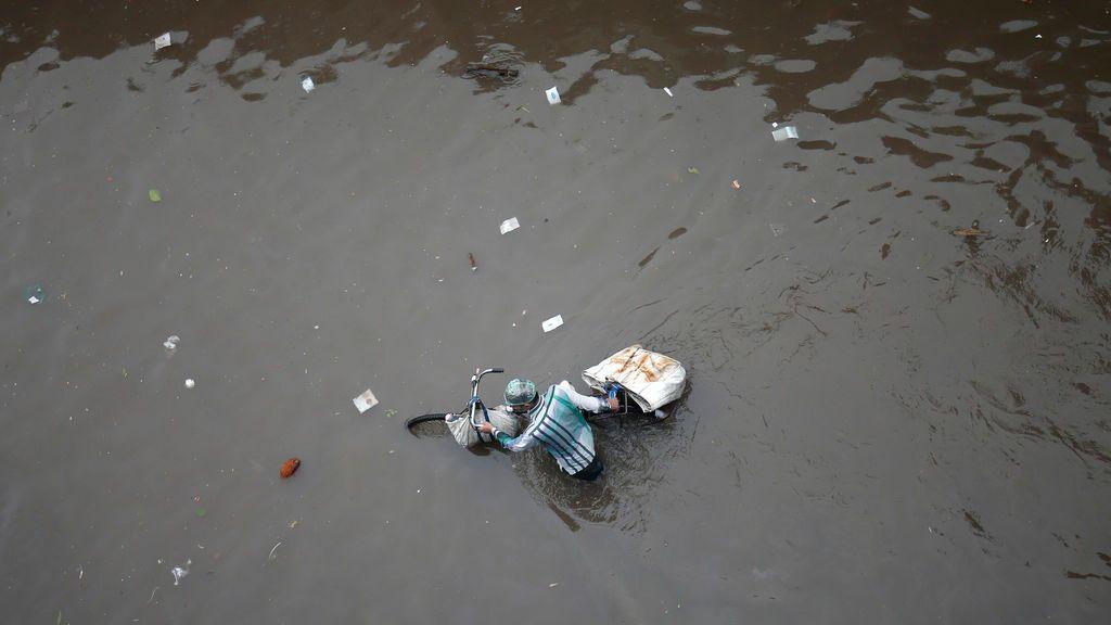 Fuertes lluvias en India