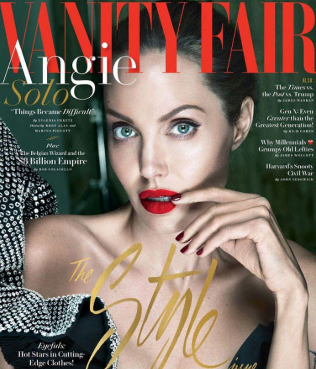 Angelina vuelve a las portadas tras la separación