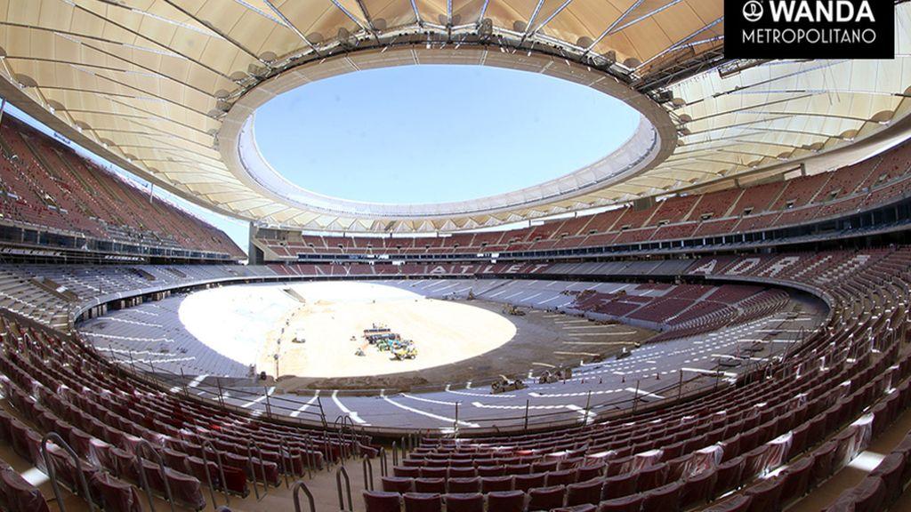 La cubierta del Wanda Metropolitano ya está terminada