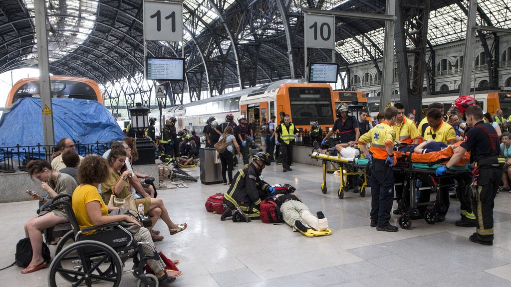 Accidente de Tren en la estación de Francia de Barcelona