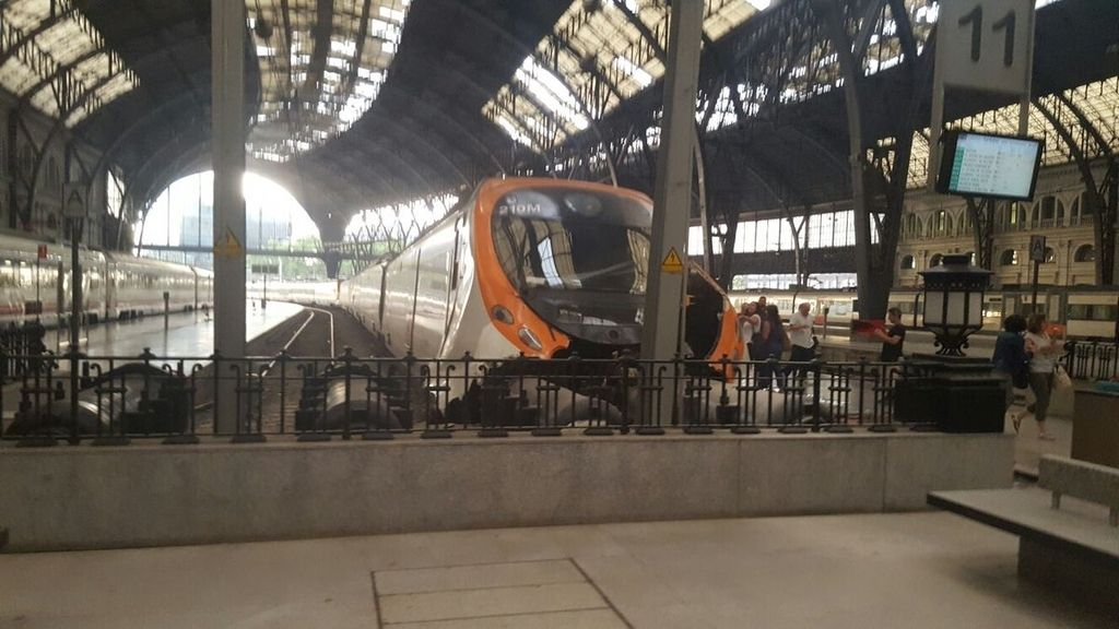 Accidente de Tren en la estación de Francia de Barcelona