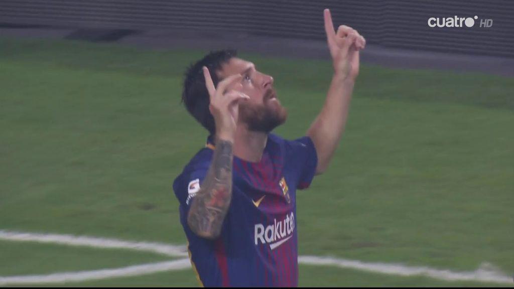 Messi baila a la defensa del Real Madrid y marca un golazo para estrenar el Clásico (0-1)