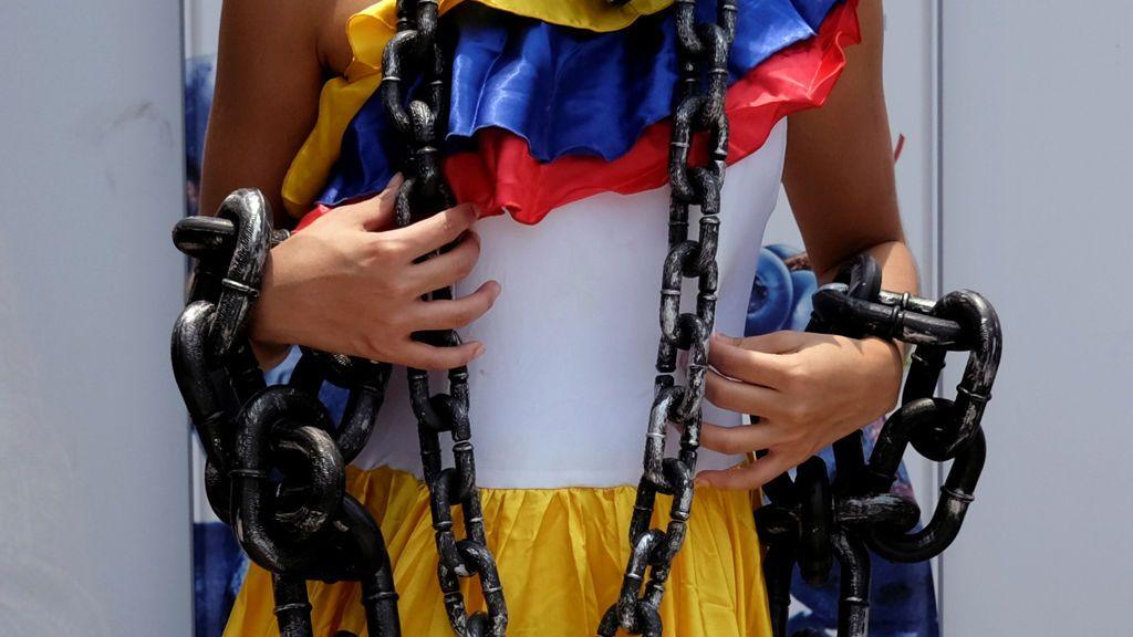Protesta en China contra la Asamblea Nacional Constituyente de Venezuela