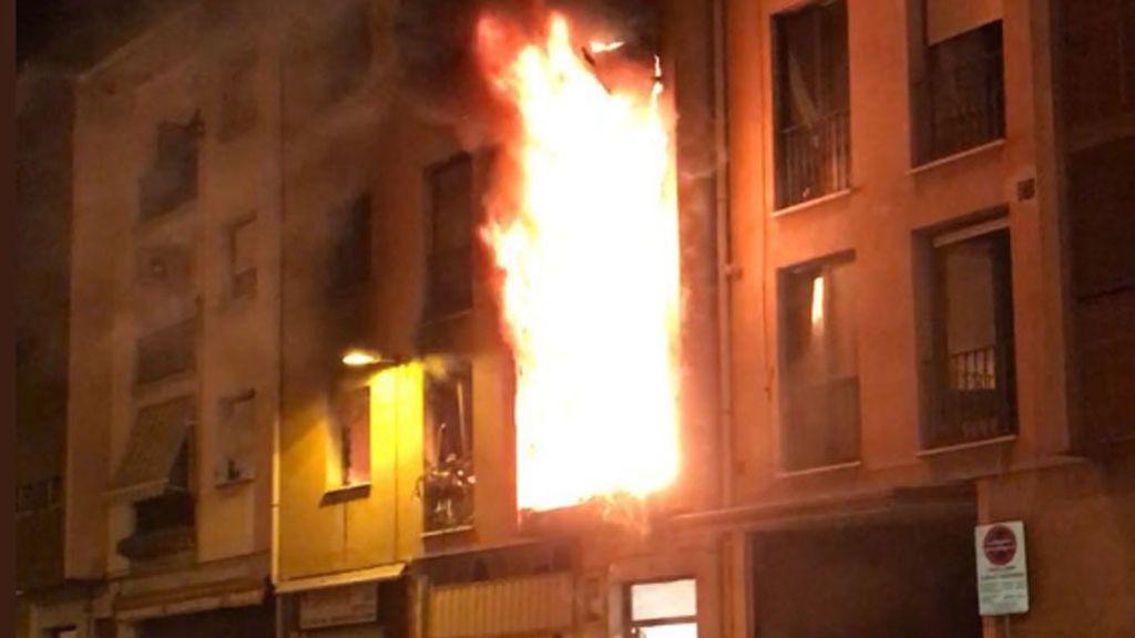 Incendio en Puente la Reina