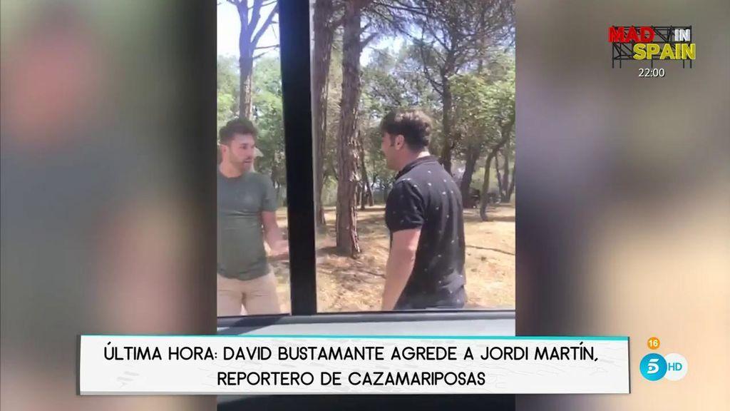 David Bustamante agrede al paparazzi Jordi Martín, colaborador de 'Cazamariposas'