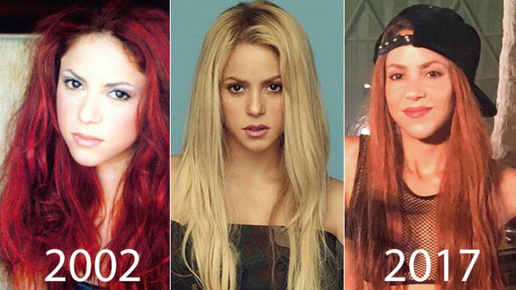 Shakira teñida de pelirroja, versión hoy  y de hace quince años: ¿cuál te gusta más?