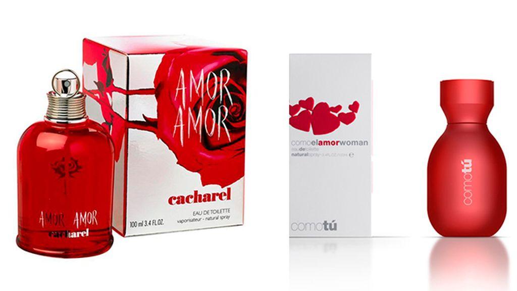 Amour Amour de Cacharel (85 euros) y Como Tú de Mercadona (7 euros)