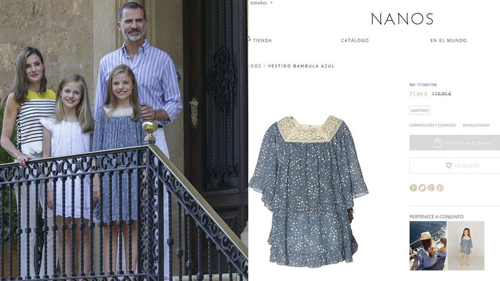 Sofía, influencer: el vestido de la Infanta en el posado en Marivent... ¡se ha agotado en pocas horas!