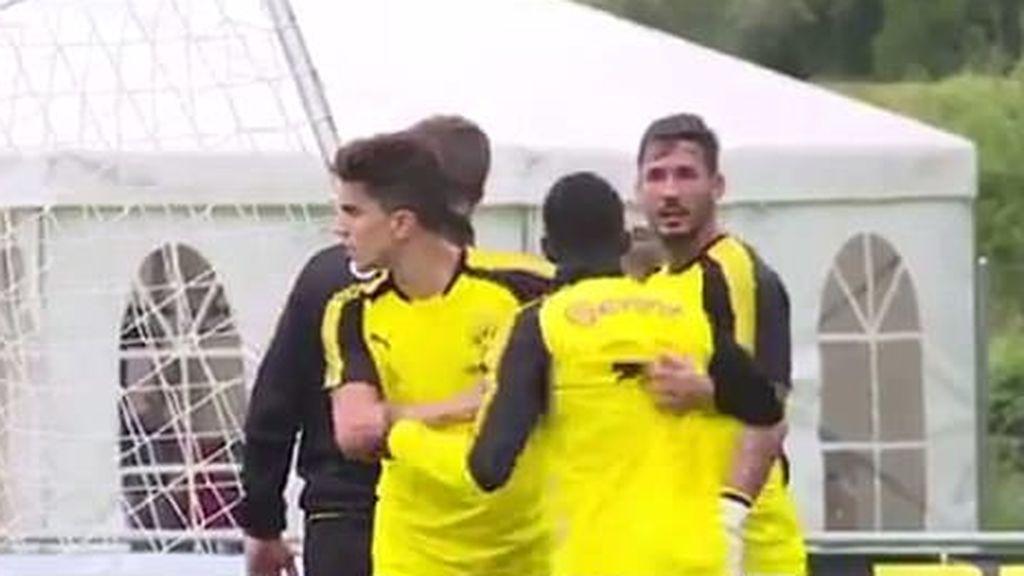 ¡Dembélé y su compañero Bürki casi llegan a la manos en el entrenamiento del Dortmund!