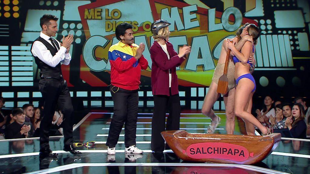 Aly-Leticia y Javi-Juanmi convencen a Cristina y Yolanda y se proclaman vencedores del equipo de Cadaval