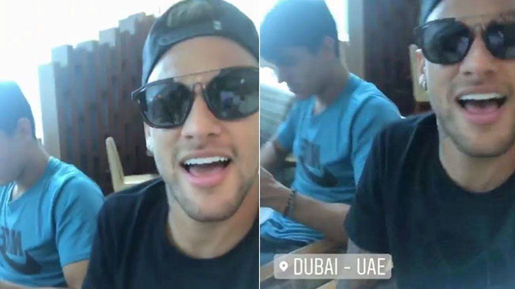 Neymar llega a Dubai para ¿pasar reconocimiento con el PSG?