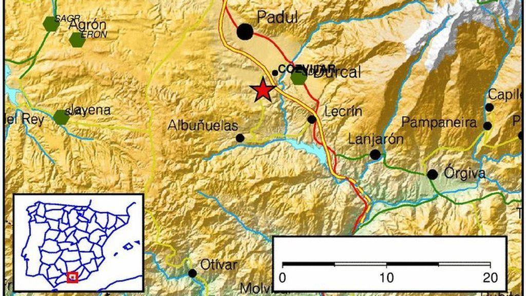 Un terremoto de 3,9 grados alarma a los vecinos de varios municipios de Granada