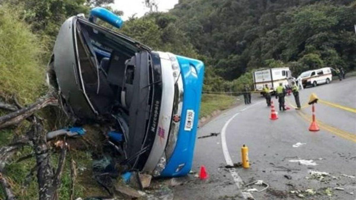 Cinco muertos y 34 heridos tras un accidente de autobús en Colombia