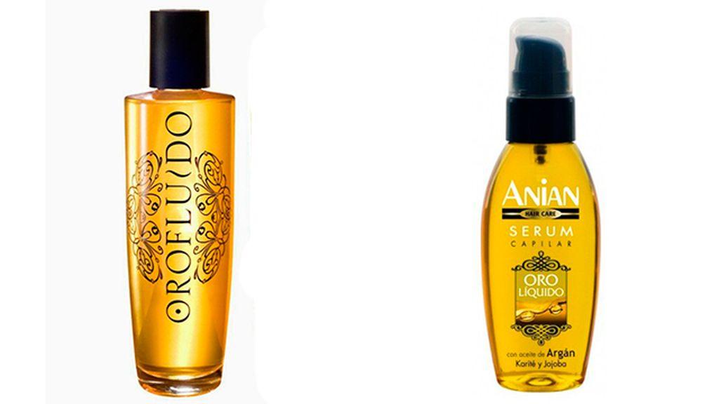 Oro Fluido de Revlon (10 euros) Serum Oro Líquido de Anian (4 euros)