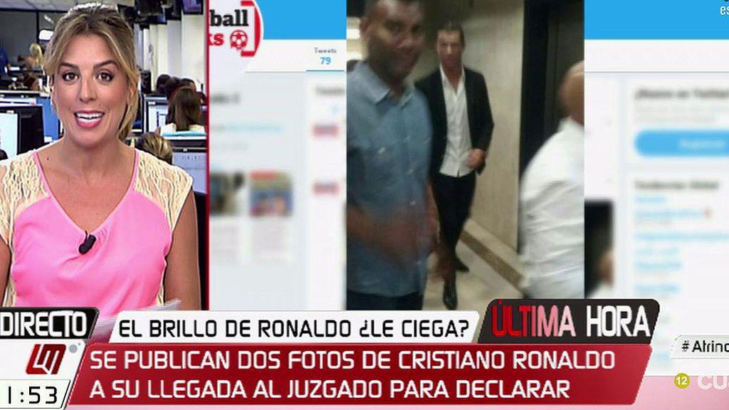 Se publican dos fotos de Cristiano Ronaldo a su llegada al juzgado para declarar