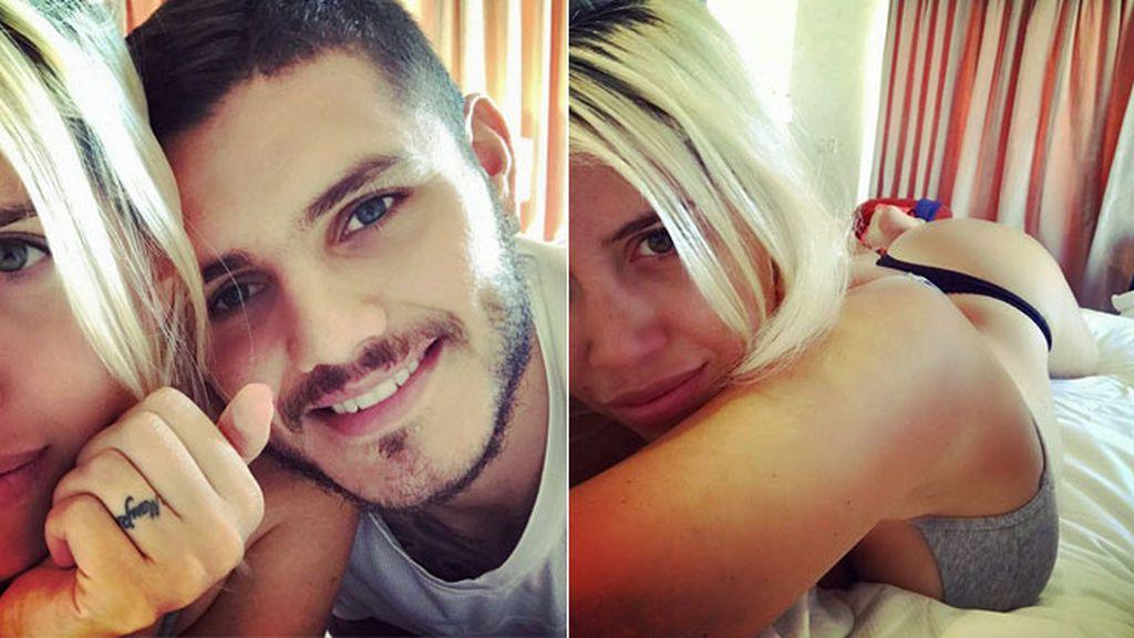 Icardi calienta Instagram con un vídeo erótico junto a su pareja Wanda en la cama