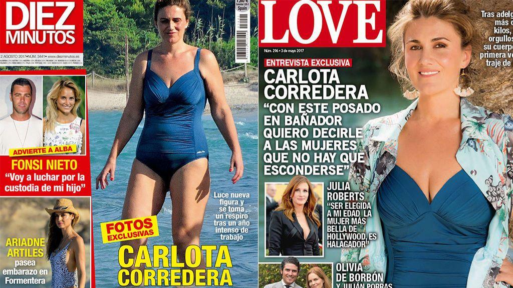 Carlota Corredera se quita la bata