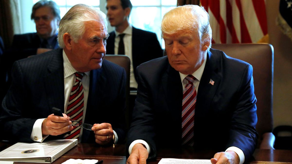Trump choca con su secretario de Estado por el acuerdo nuclear con Irán