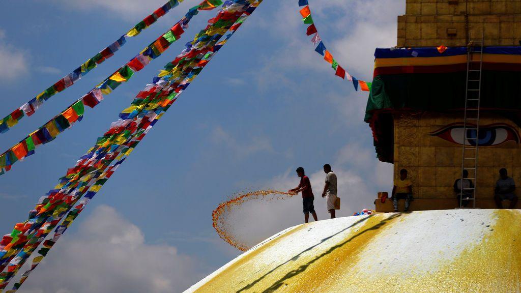 Cúpula de Boudhanath Stupa en Nepal