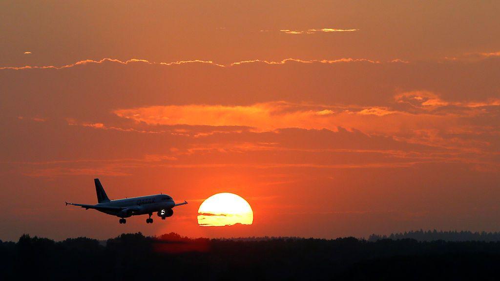 Avión aterriza en Múnich, Alemania