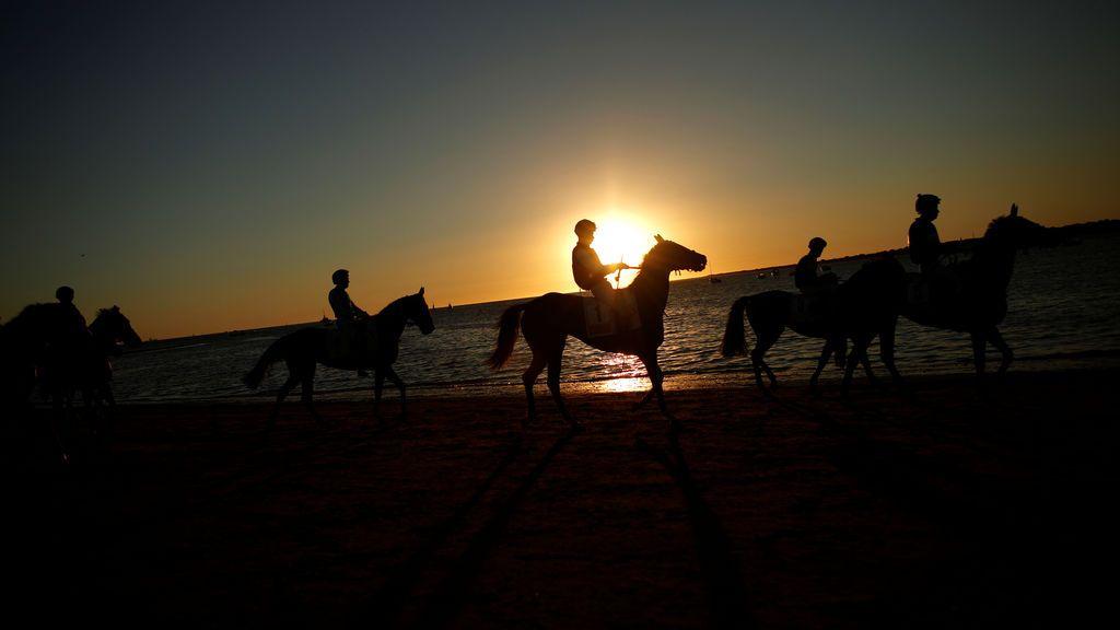 Carrera de caballos en Sanlucar de Barrameda
