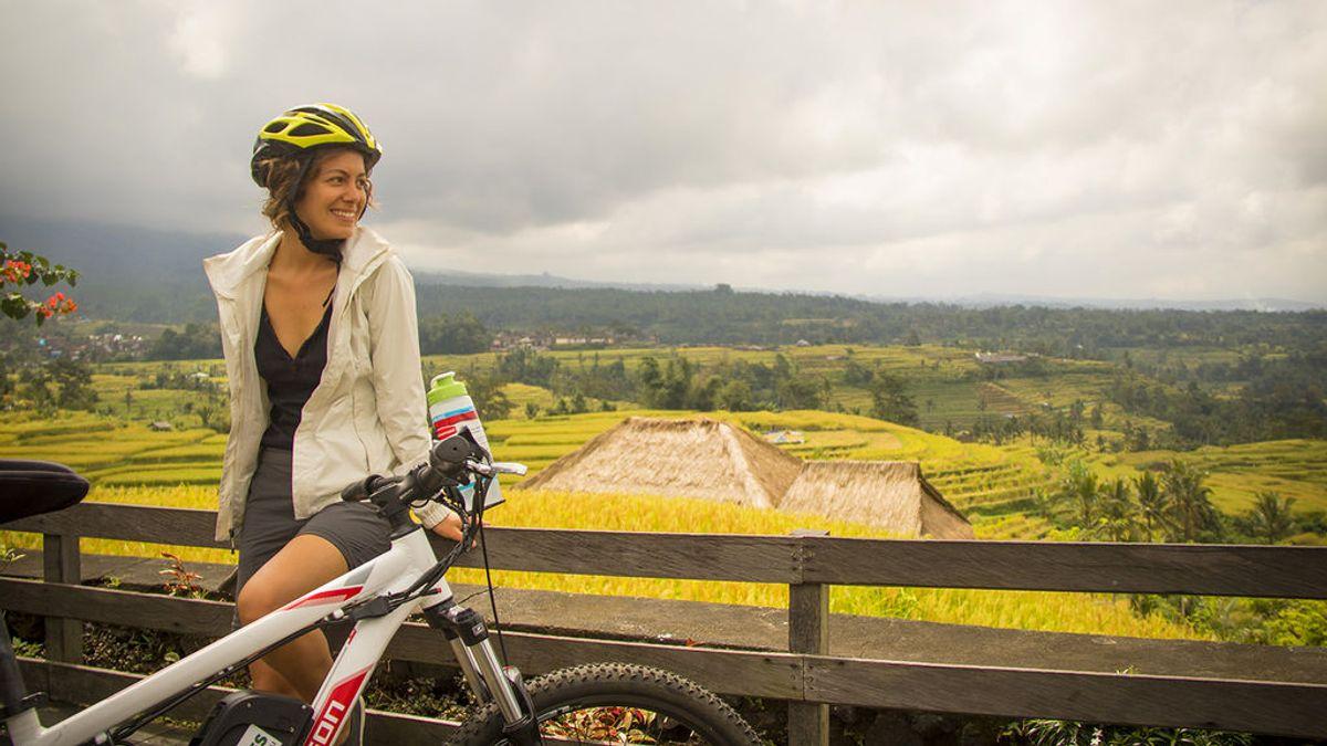 En bici entre arrozales