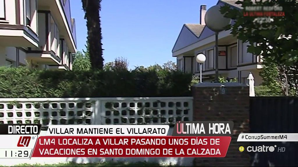 'LM4' localiza a Villar pasando unos días de vacaciones en Santo Domingo de la Calzada