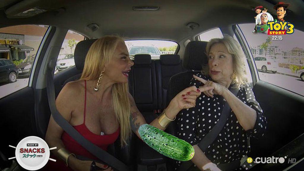 """Leticia Sbater le canta 'El pepinazo' a Maite y ella contesta: """"Pepinazos los que te comes tú"""""""