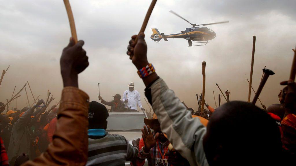El líder de la oposición en Kenya  Raila Odinga