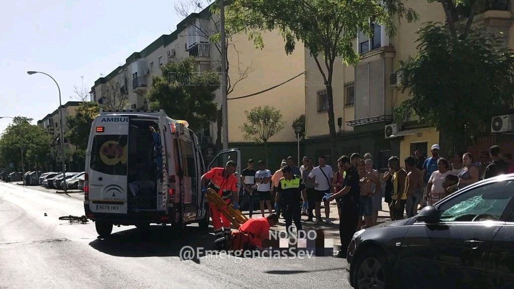 Herido grave un ciclista tras ser atropellado en Sevilla