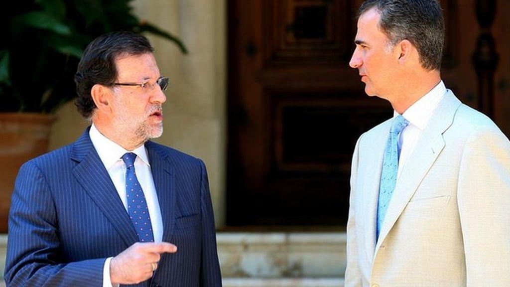 El Rey y Rajoy, despacho de verano en el Palacio de Marivent