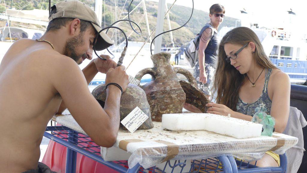 Arqueólogos descubren parte del Puerto de la Batlla de Salamina