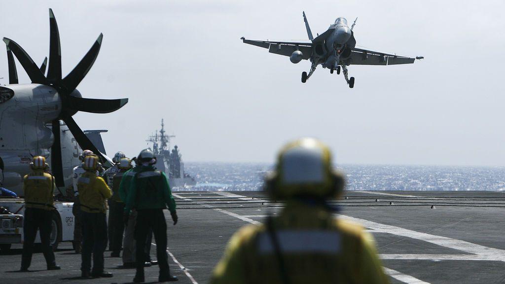 La amenaza dron de Irán contra cazas estadounidenses