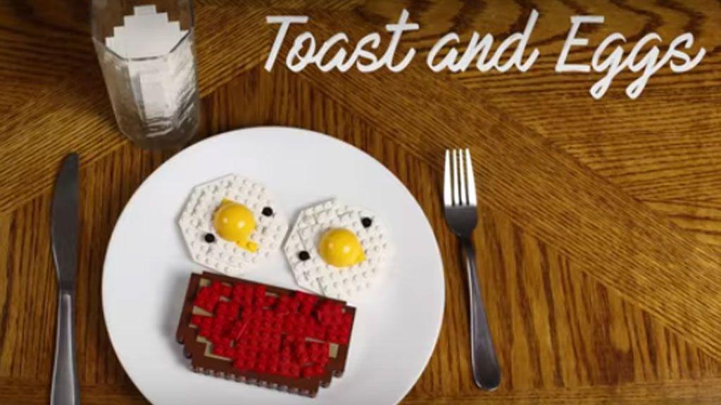 El desayuno más apetecible hecho con Lego
