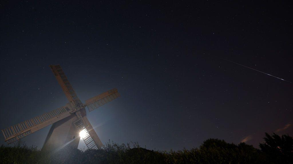 Lluvia de estrellas vista desde Brighton (Reino Unido).
