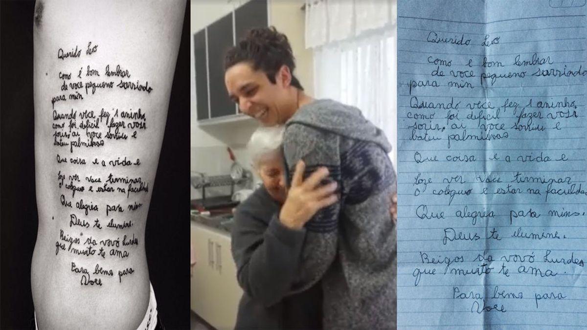 Este es el emotivo homenaje que un joven le ha hecho a su abuela con alzhéimer